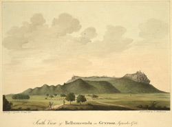 S. view of Bellamkonda Fort. Copy of a sketch made in 1788 by Mackenzie